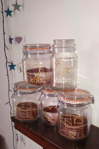 Make it diy gift ideas d embellished glass jars